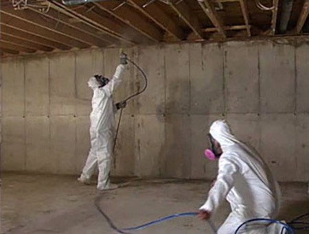 two mold remediation technicians